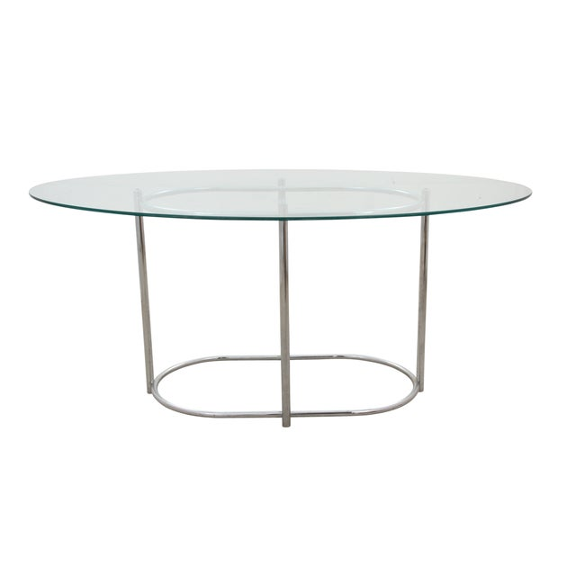 Chrome & Glass Dining Table - Image 3 of 6