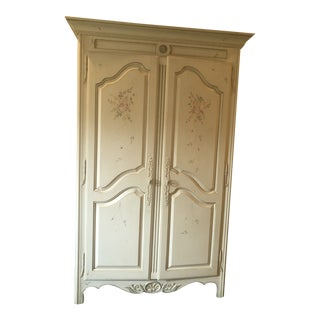 French Ethan Allen Country Handpainted Armoire For Sale