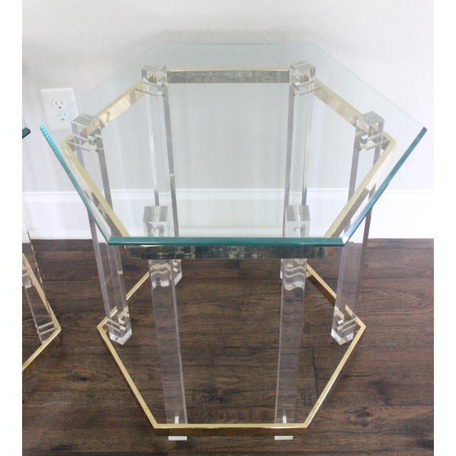 Charles Hollis Jones Style Lucite Tables - A Pair - Image 8 of 10