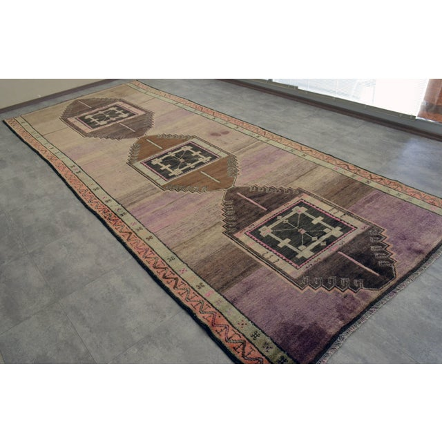 """Turkish Hand-Knotted Runner Rug - 5'7"""" x 13'9"""" - Image 3 of 11"""