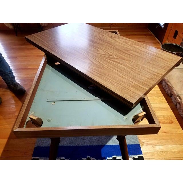 1950s Mid Century Modern Bernard Castro Convertible Dining Table Chairish
