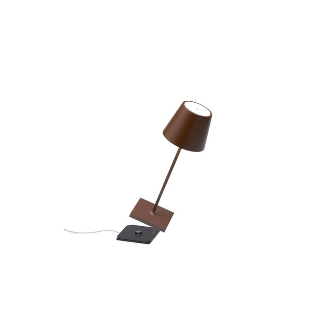 Modern Zafferano Rust Rechargeable Indoor/Outdoor Cordless Mini Table Lamp For Sale - Image 3 of 4