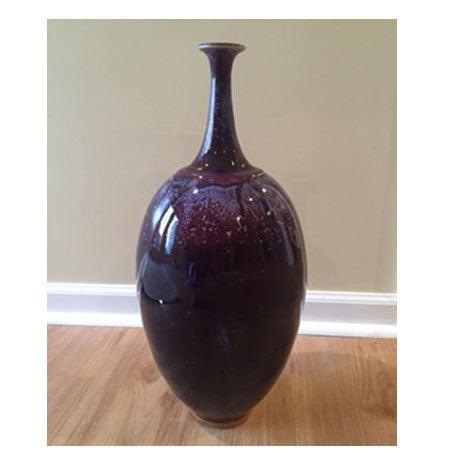 Arteriors Large Heliotrope Purple Porcelain Vase - Image 2 of 3