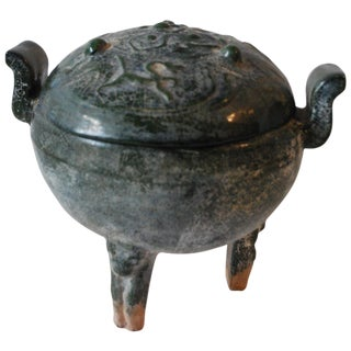 Early 20th Century Chinese Ding, Ritual Food Vessel For Sale