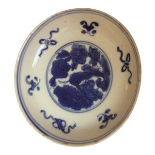 Antique Imari Blue and White Hand-Painted Bowl For Sale