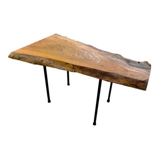 Live Edge Coffee Table Iron Legs For Sale