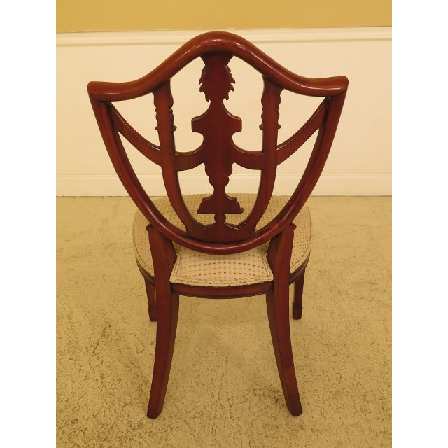 Maitland Smith Carved Mahogany Dining Room Chairs - Set of 4 For Sale - Image 10 of 13