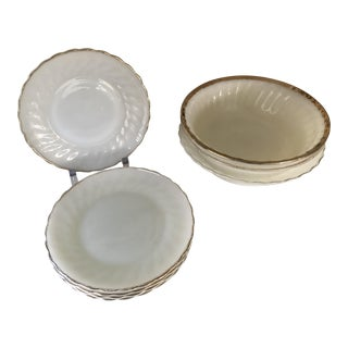 Anchor Hocking Suburbia Dinnerware - 8 Piece Set For Sale