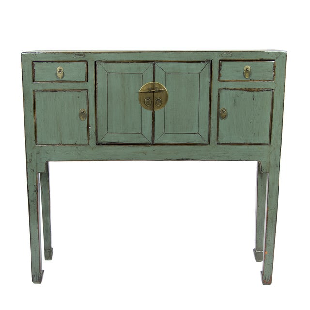 Green Lacquer Console - Image 1 of 2