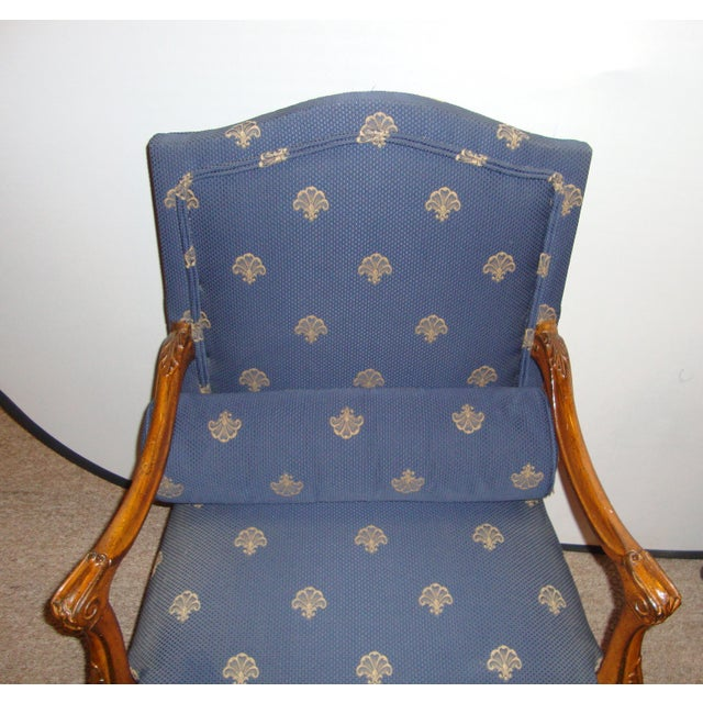 Custom Louis XV Style Arm Chairs- A Pair - Image 7 of 8