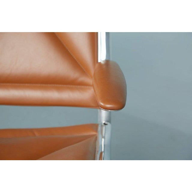 Brown Edelman Leather Two-Seat Tandem Sling by Charles Eames for Herman Miller For Sale - Image 8 of 11