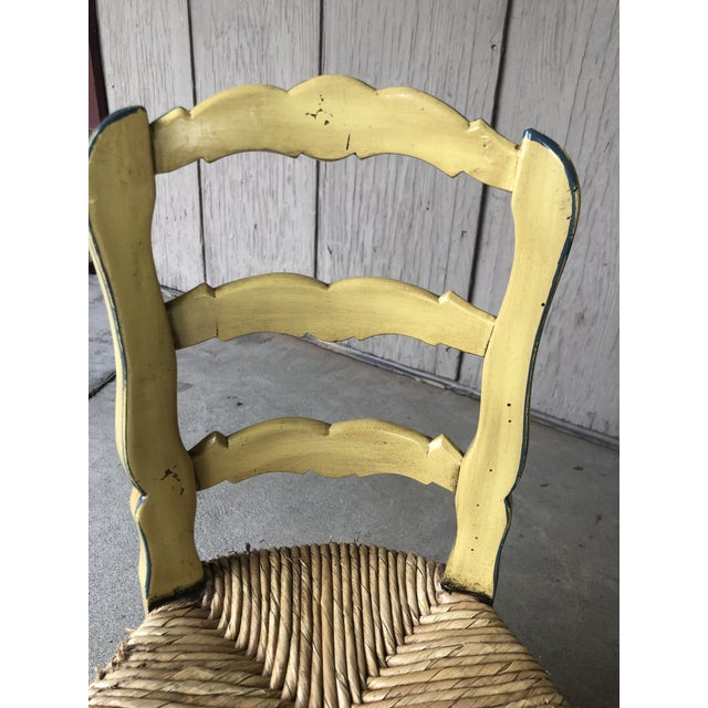 Canary Yellow Vintage Child's Dining Set - 3 Pieces For Sale - Image 8 of 13