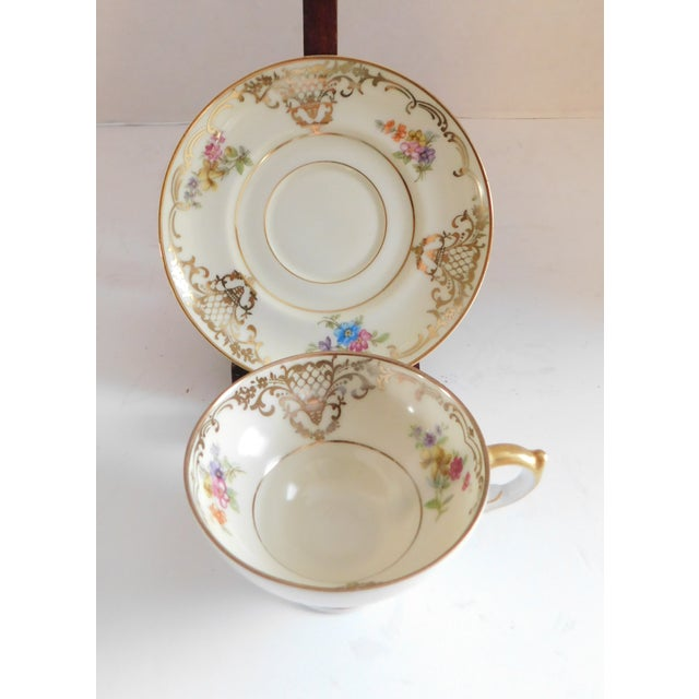 Enjoy the versatility and charm of this mix and match set of six porcelain demi-tasse cup and saucers. The antique sets...