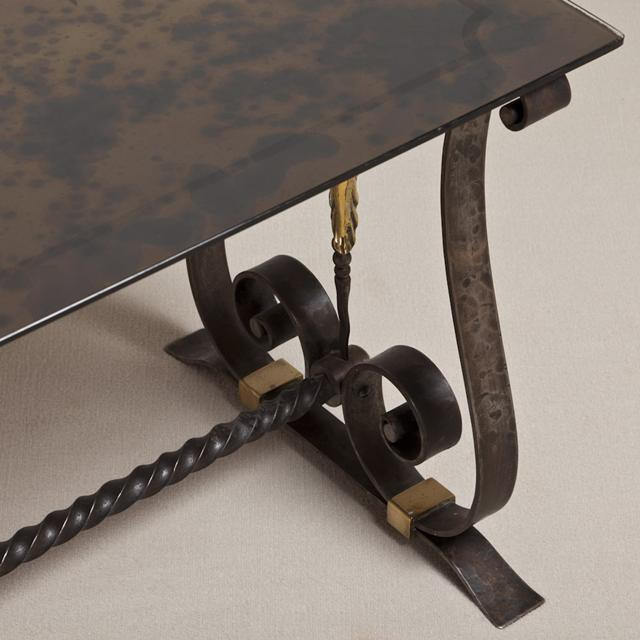 TALISMAN IS RETIRING, 50% OFF ALL STOCK (FINAL SALE PRICE SHOWN). A Cast Iron and Gilded Side Table in the Manner of...