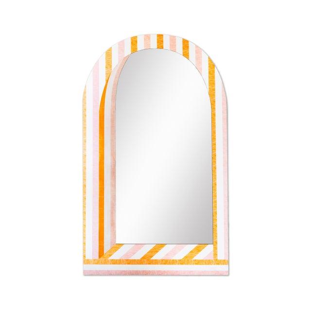 Contemporary Fleur Home x Chairish Palm Orleans Cabana Stripe Short Spritz Mirror For Sale - Image 3 of 3
