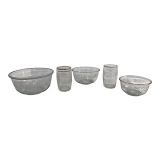 Sugar Grapes Vintage Bowls & Glasses - Set of 5 For Sale