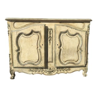 Louis XV Painted Antique French Enfilade Sideboard Buffet For Sale