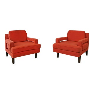 Mid-Century Modern Edward Wormley for Dunbar Club Chairs - a Pair For Sale