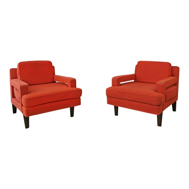 Mid-Century Modern Edward Wormley for Dunbar Club Chairs - a Pair For Sale