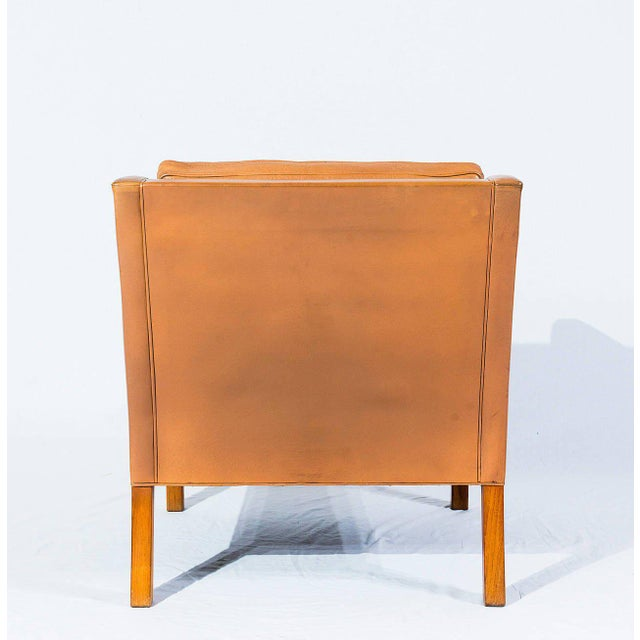 1960s Børge Mogensen Model No. 2207 Leather Lounge Chair For Sale - Image 5 of 9