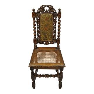 Black Forest Carved Oak Barley Twist Dining Chair