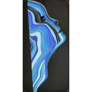 French Abstract - Aqua Profile For Sale