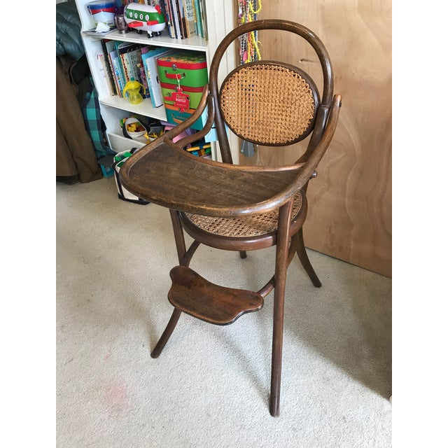 Children's D.G. Fischel & Sons Antique Caned Bentwood High Chair For Sale -  Image ... - D.G. Fischel & Sons Antique Caned Bentwood High Chair Chairish