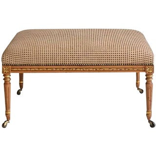 Louis XVI Style Upholstered Bench or Cocktail Table For Sale