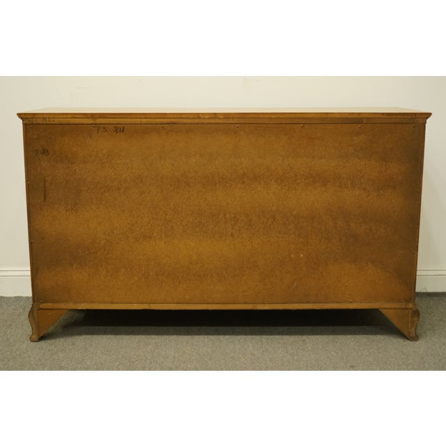 "Statton Trutype Americana Solid Maple Colonial Style 56"" Double Dresser For Sale - Image 10 of 13"