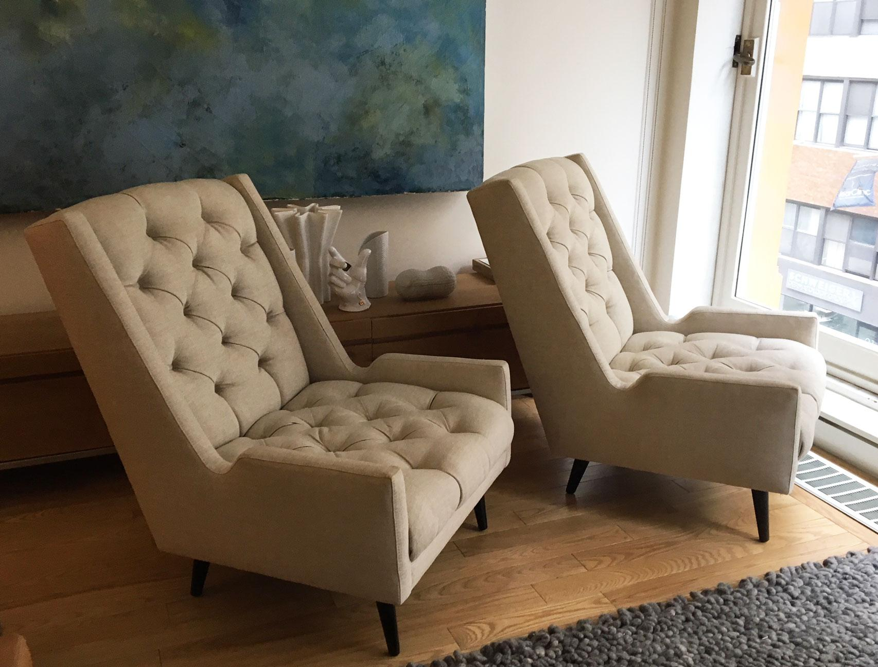 Jonathan Adler Tufted Parker Chairs   A Pair   Image 2 Of 11