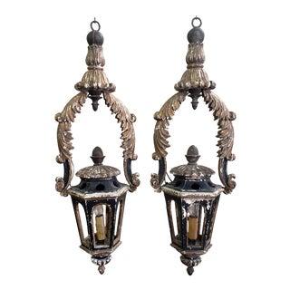 18th Century Lanterns or Pendants - a Pair