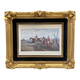 Framed Fox Hunt Engraving For Sale