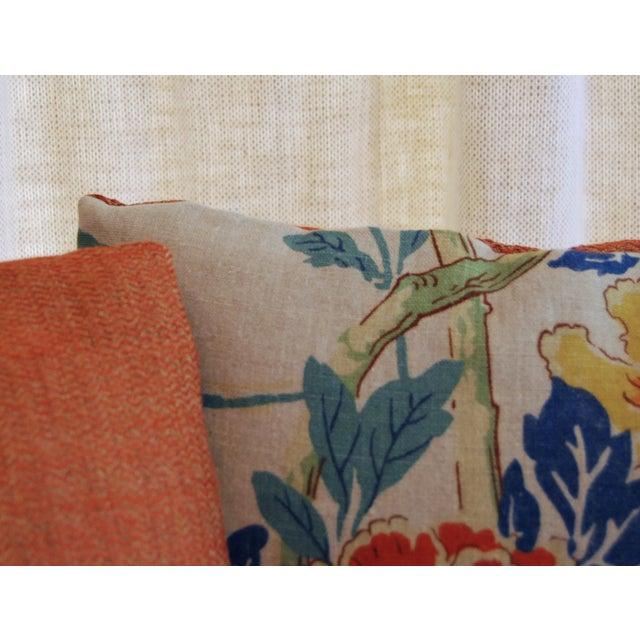 GP Baker Linen Floral Pillows - A Pair - Image 4 of 4