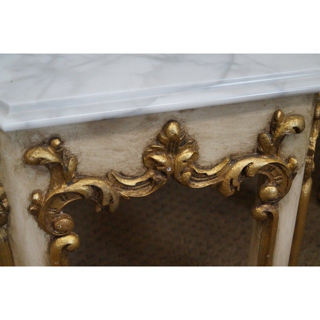 Hollywood Regency Partial Gilt Side Tables - Pair - Image 7 of 10
