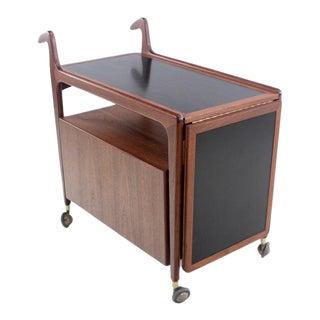 Scandinavian Modern Teak Bar/Service Cart Designed by Arne Hovmand Olsen For Sale