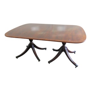 Baker Georgian Style Double Pedestal Dining Table For Sale