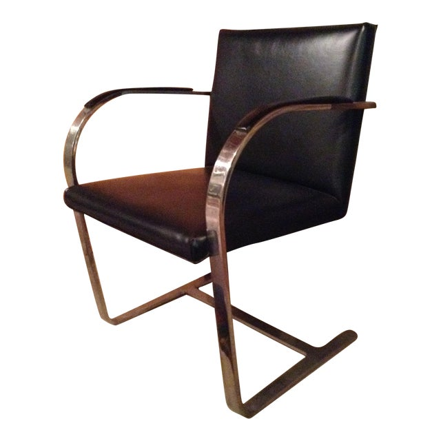 Knoll Brno Chrome & Black Chair - Image 1 of 3