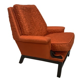 Mid Century Chinoiserie Lounge Chair For Sale