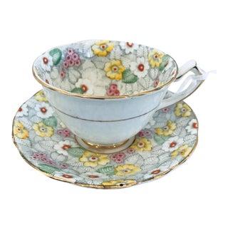 Sunnyvale Chintz Vintage Teacup & Saucer - A Pair
