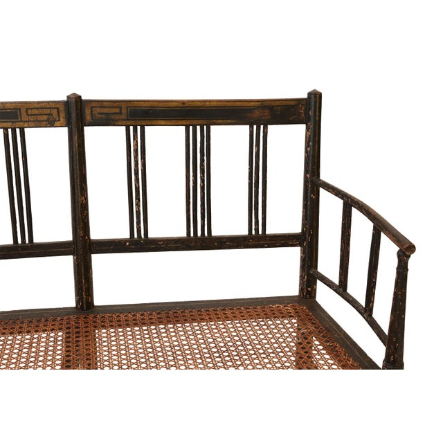 Regency Caned Settee For Sale - Image 10 of 12
