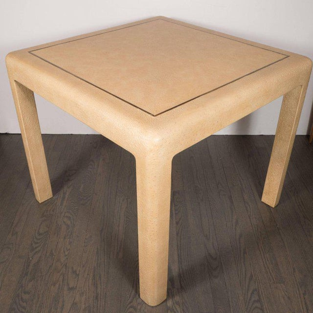 Mid-Century Modern Signed Mid-Century Modern Ostrich Game Table by Karl Springer For Sale - Image 3 of 11