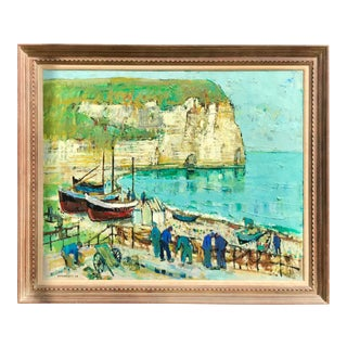 Mid 20th C. Jean Monneret Oil Painting For Sale