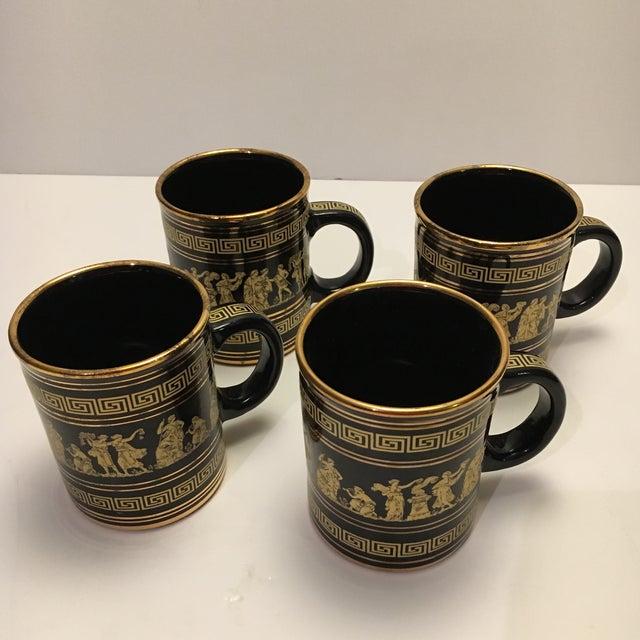 Neofitou 24k Gold Greek Key Mugs - Set of 4 - Image 2 of 9