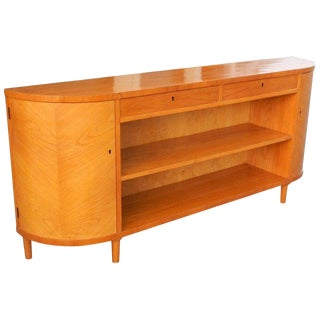 1940s Swedish Modern Golden Elm ook Case/Cabinet For Sale