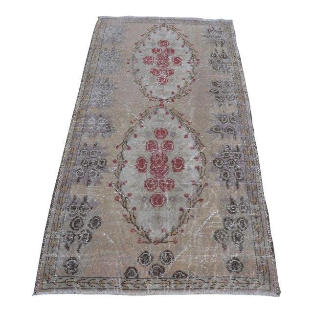 Turkish Overdyed Floor Rug- 2′11″ × 5′9″ For Sale