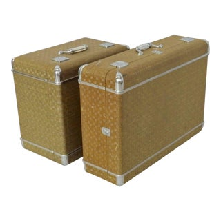 Art Deco Luggage Suitcases - a Pair For Sale
