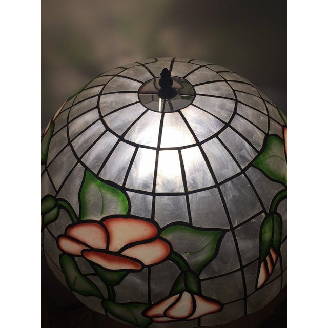 """1980s Large 20"""" Vintage Capiz Shell & Brass Lamp Shade For Sale - Image 5 of 12"""