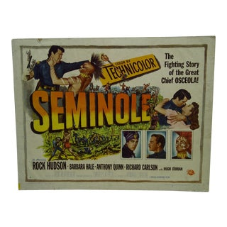 "Vintage Movie Poster ""Seminole"" Rock Hudson & Barbara Hale 1953 For Sale"