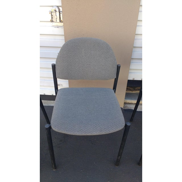 Comet Armless Stacking Chairs - Set of 4 For Sale - Image 4 of 7