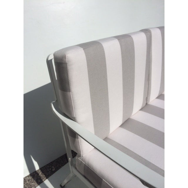 Metal Garden Sofa With Sunbrella Cushions For Sale - Image 11 of 13